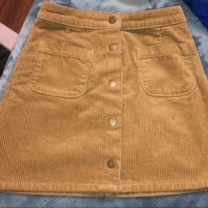 Dresses & Skirts - Buttoned Corduroy Skirt